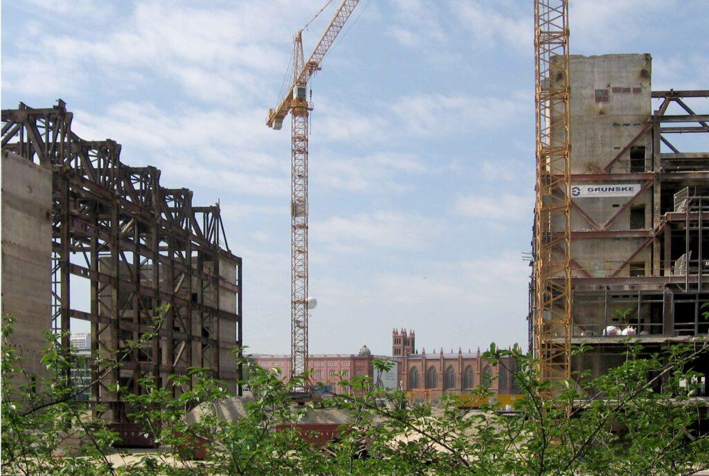 Ruinen des Palastes der Republik 2007