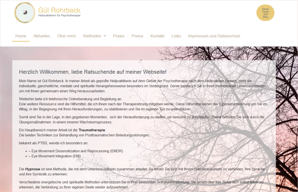 Webseite Gül Rohrbeck